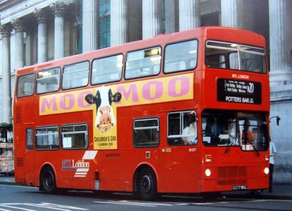 London Bus Routes: Route N20: Barnet Church - Trafalgar Square &emdash; Route N20, MTL London, M1277, B277WUL, Trafalgar Square