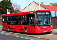 Route 66, Arriva Southend 4008, GN08CHF, Romford Market