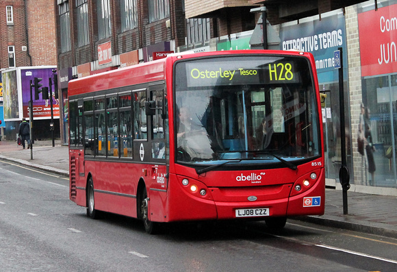 London Bus Routes: Route H28: Bulls Bridge - Osterley Tesco &emdash; Route H28, Abellio London 8515, LJ08CZZ, Hounslow