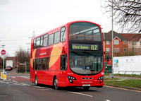 Route EL2, Go Ahead London, WVL348, LX59DFJ, Thames View Estate