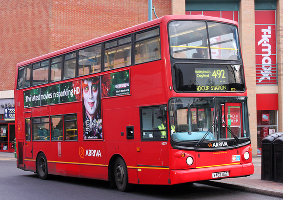 London Bus Routes: Route 492: Bluewater - Sidcup Station &emdash; Route 492, Arriva Kent Thameside 6229, Y462UGC, Bexleyheath
