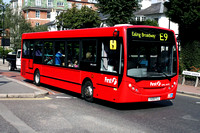 Route E9, First London, DML44119, YX09FLL