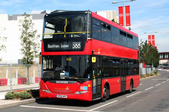 London Bus Routes: Route 388: Elephant & Castle - Stratford City &emdash; Route 388, CT Plus, SD2, YR59NPC, Stratford