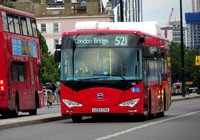 Route 521, Go Ahead London, EB1, LC63CYA, Waterloo Bridge