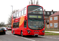 Route EL1, Go Ahead London, WVL338, LX59DDV, Thames View Estate
