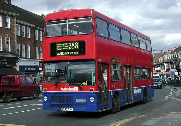 London Bus Routes: Route 288: Broadfields Estate - Queensbury, Morrison's &emdash; Route 288, Metroline, M1047, A747THV, Edgware
