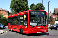 Route E9, First London, DML44116, YX09FLH, Ealing