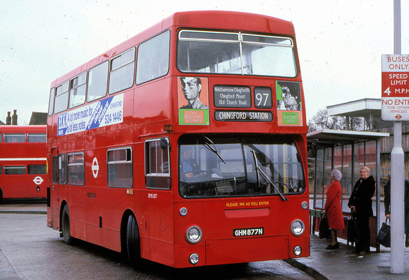 London Bus Routes: Route 97: Chingford Station - Stratford City &emdash; Route 97, London Transport, DMS1877, GHM877N, Chingford