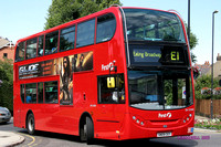 Route E1, First London, DN33588, SN09CEY, Ealing