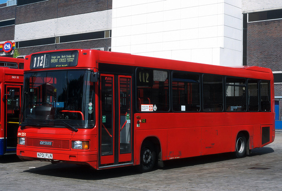 London Bus Routes: Route 112: Brent Cross - Ealing Broadway &emdash; Route 112, Metroline, MV251, N701FLN, Brent Cross