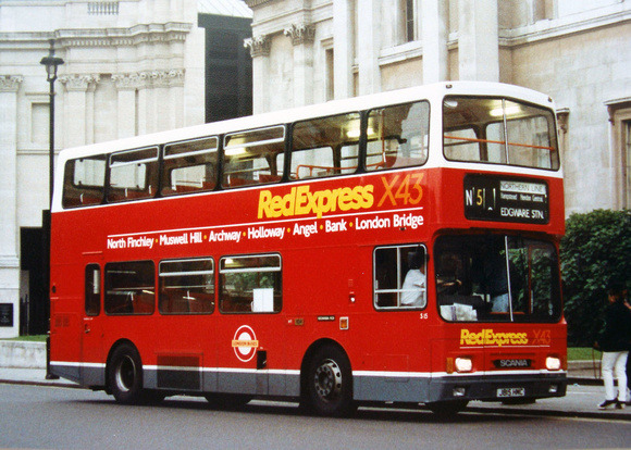 London Bus Routes: Route N5: Edgware - Trafalgar Square &emdash; Route N5, London Northern, S15, J815HMC, Trafalgar Square