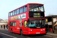 Route 59, Arriva London, DLA329, LG52DCE, Waterloo Bridge