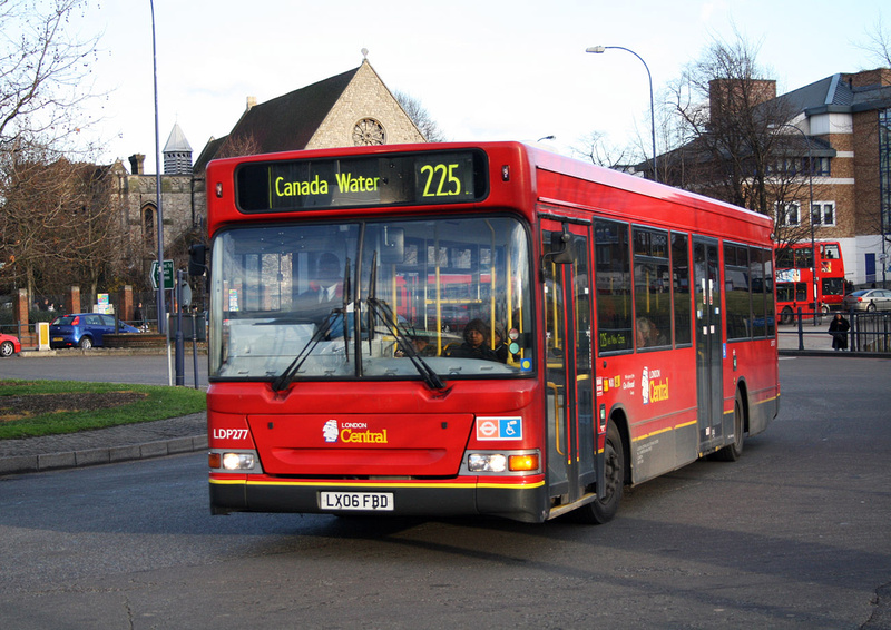 London Bus Routes Route 225 Canada Water Hither Green