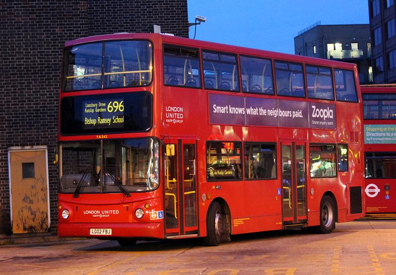 London Bus Routes Route 696 Hayes Bourne Avenue