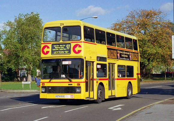 Route 97, Capital Citybus 274, H274KVX, Chingford