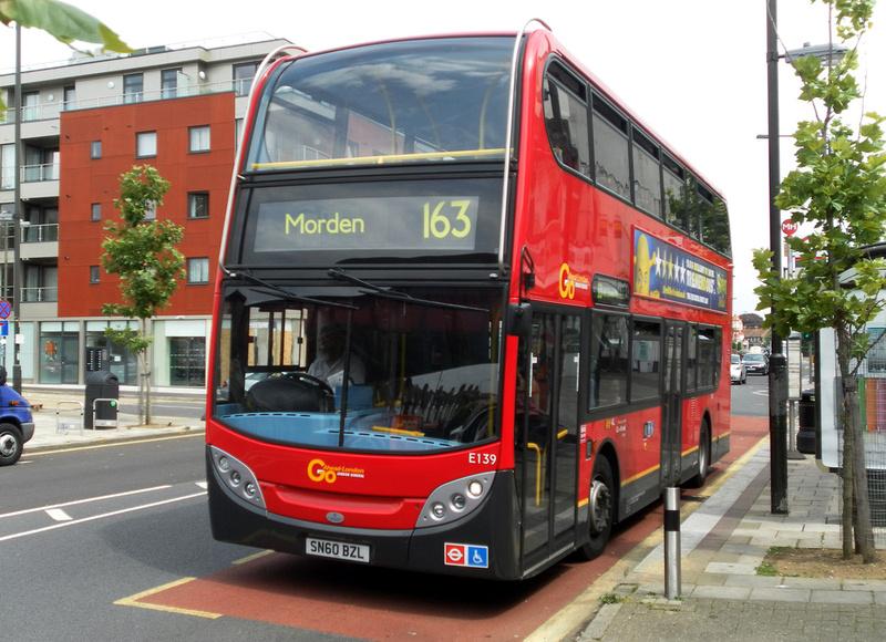 London Bus Routes Route 163 Morden Wimbledon