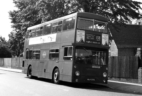 Route 138, London Transport, DMS1333, MLH333L, Coney Hall