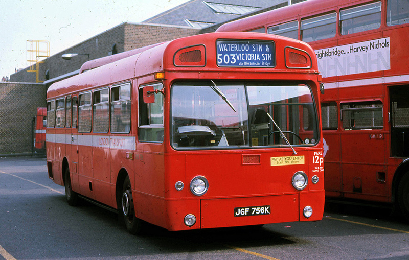 London Bus Routes Route 503 Victoria Waterloo Withdrawn