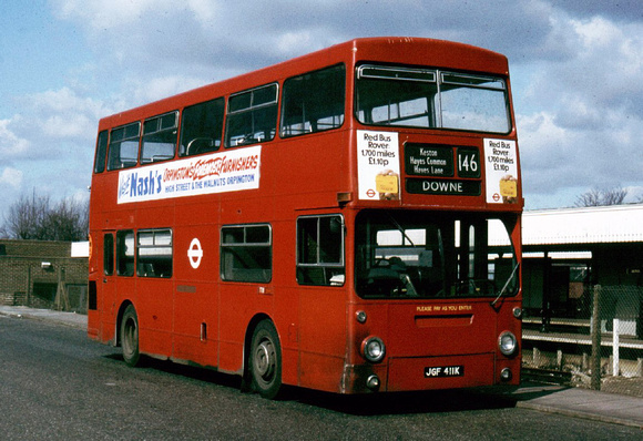 Route 146, London Transport, DMS411, JGF411K, Bromley
