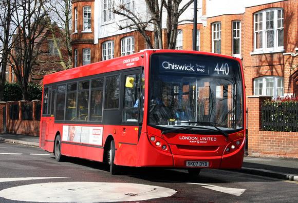 London Bus Routes: Route 440: Chiswick, Power Road - Stonebridge Park &emdash; Route 440, London United RATP, DE76, SK07DYD, Acton Green
