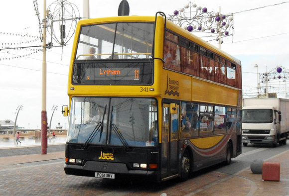 Route 11, Blackpool Transport 341, PO51UMV, Tower