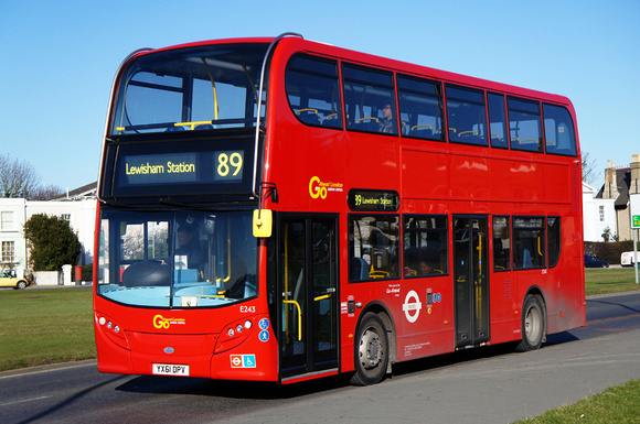 Route 89, Go Ahead London, E243, YX61DPV, Blackheath