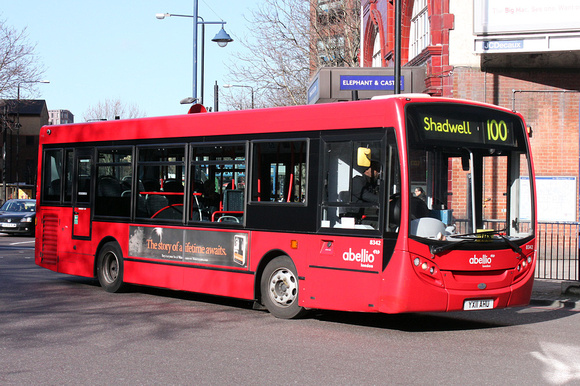 Route 100, Abellio London 8342, YX11AHU, Elephant & Castle