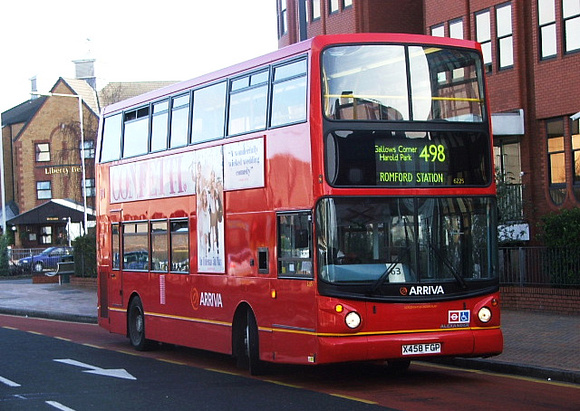 Route 498, Arriva Southend 6225, X458FGP, Romford