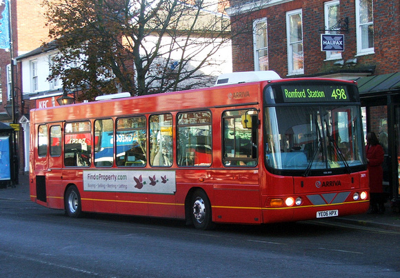 Route 498, Arriva Southend 3971, YE06HPX