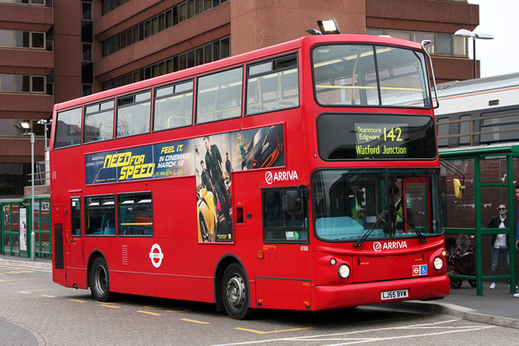 Route 142, Arriva The Shires 6168, LJ55BVW, Watford Junction