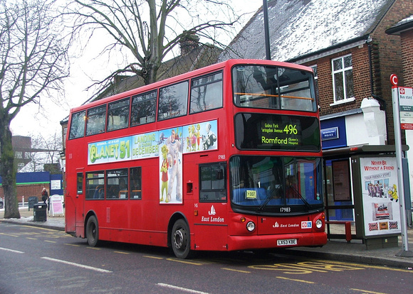 Route 496, East London ELBG 17983, LX53KBE, Harold Wood