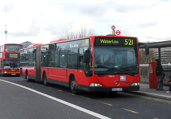 Route 521, London General, MAL10, BX02YZP, Waterloo