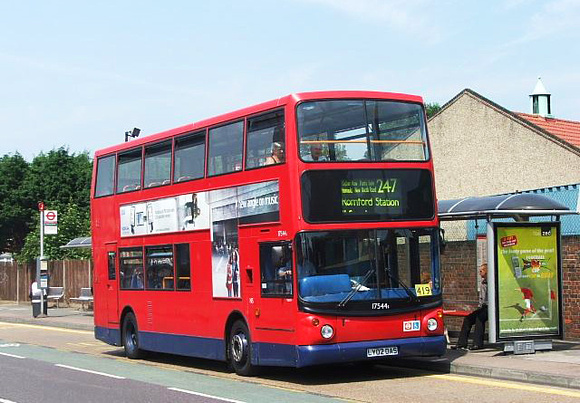 Route 247, East London ELBG 17544, LY02OAS, Romford