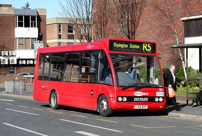 Route R5, Metrobus 101, YJ56WVF, Orpington
