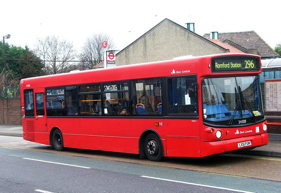 Route 296, East London ELBG 34308, LX51FGM, Romford