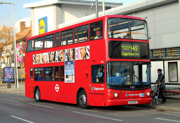 Route 145, Stagecoach London 17882, LX03NGY, Barking