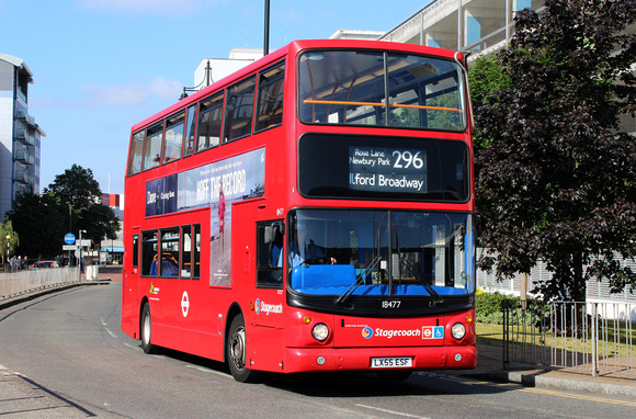 Route 296, Stagecoach London 18477, LX55ESF, Romford