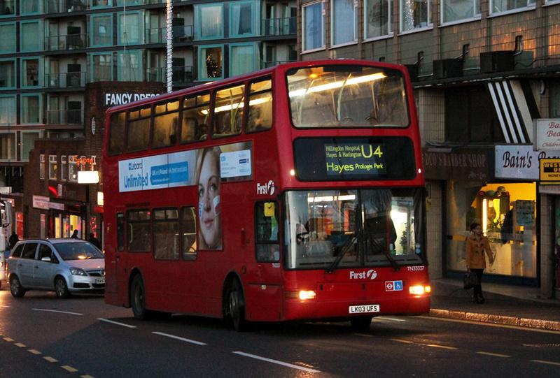 London Bus Routes Route U4 Hayes Prologis Park Uxbridge