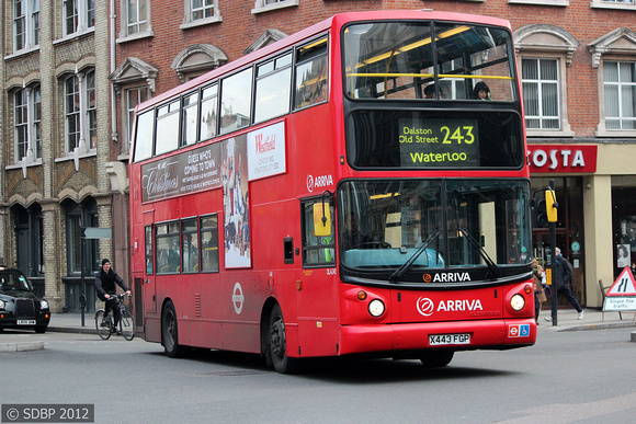 Route 243, Arriva London, DLA243, X443FGP