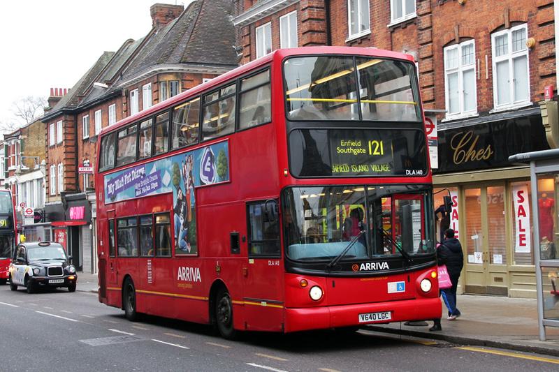 london bus routes route 121 enfield island village. Black Bedroom Furniture Sets. Home Design Ideas