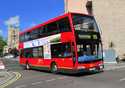 Route 93, Go Ahead London, DOE6, LX58CWU, Putney Bridge