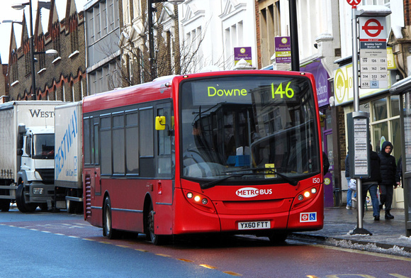 Route 146, Metrobus 150, YX60FTT, Bromley South