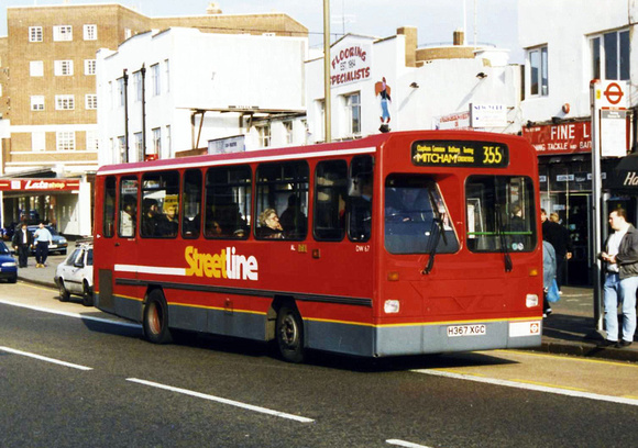 Route 355, London General, DW67, H367XGC, Tooting
