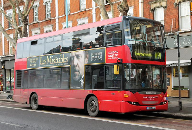 London Bus Routes Route H91 Hammersmith Hounslow West