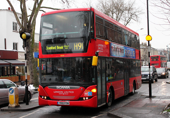 Route H91, London United RATP, SP191, YR10FFW, Chiswick Lane