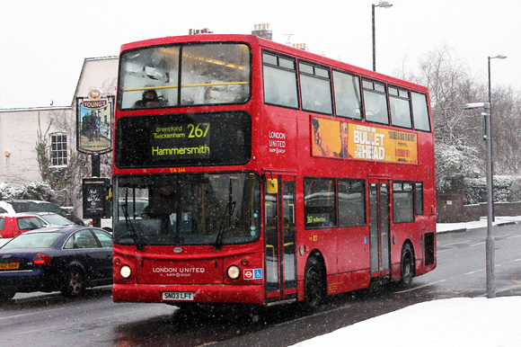 Route 267, London United RATP, TA346, SN03LFT, Syon Lane