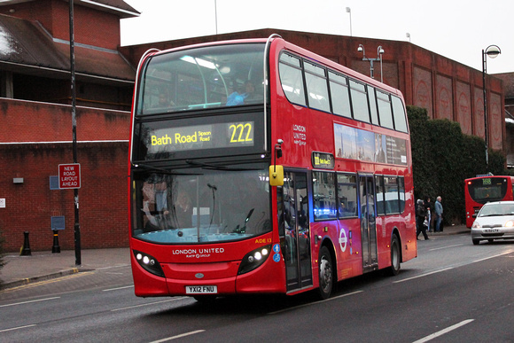Route 222, London United RATP, ADE13, YX12FNU, Hounslow