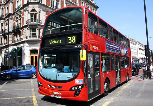 Route 38, Arriva London, DW206, LJ09SUY, Victoria