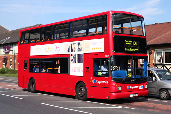 Route 101, Stagecoach London 17457, LX51FKT