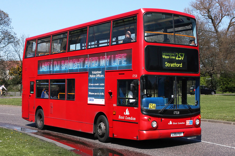 London Bus Routes Route 257 Stratford Walthamstow Central
